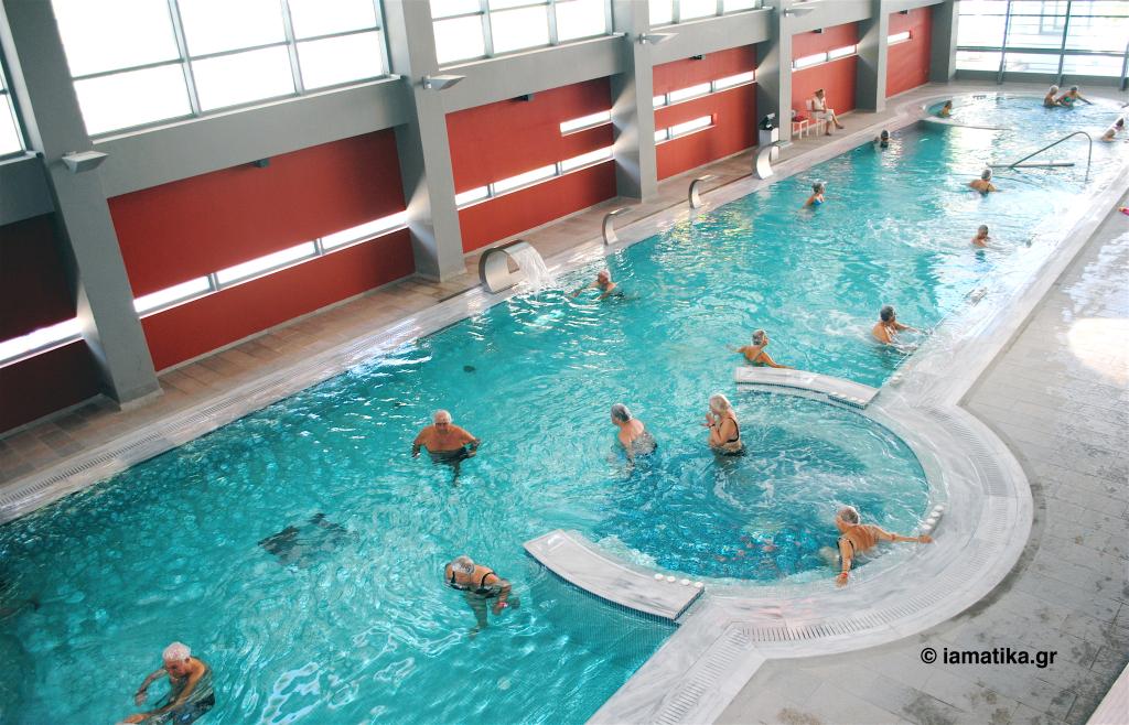 Η εσωτερική πισίνα του Spa. Φοτο: Μαρία Κορόγιαννη